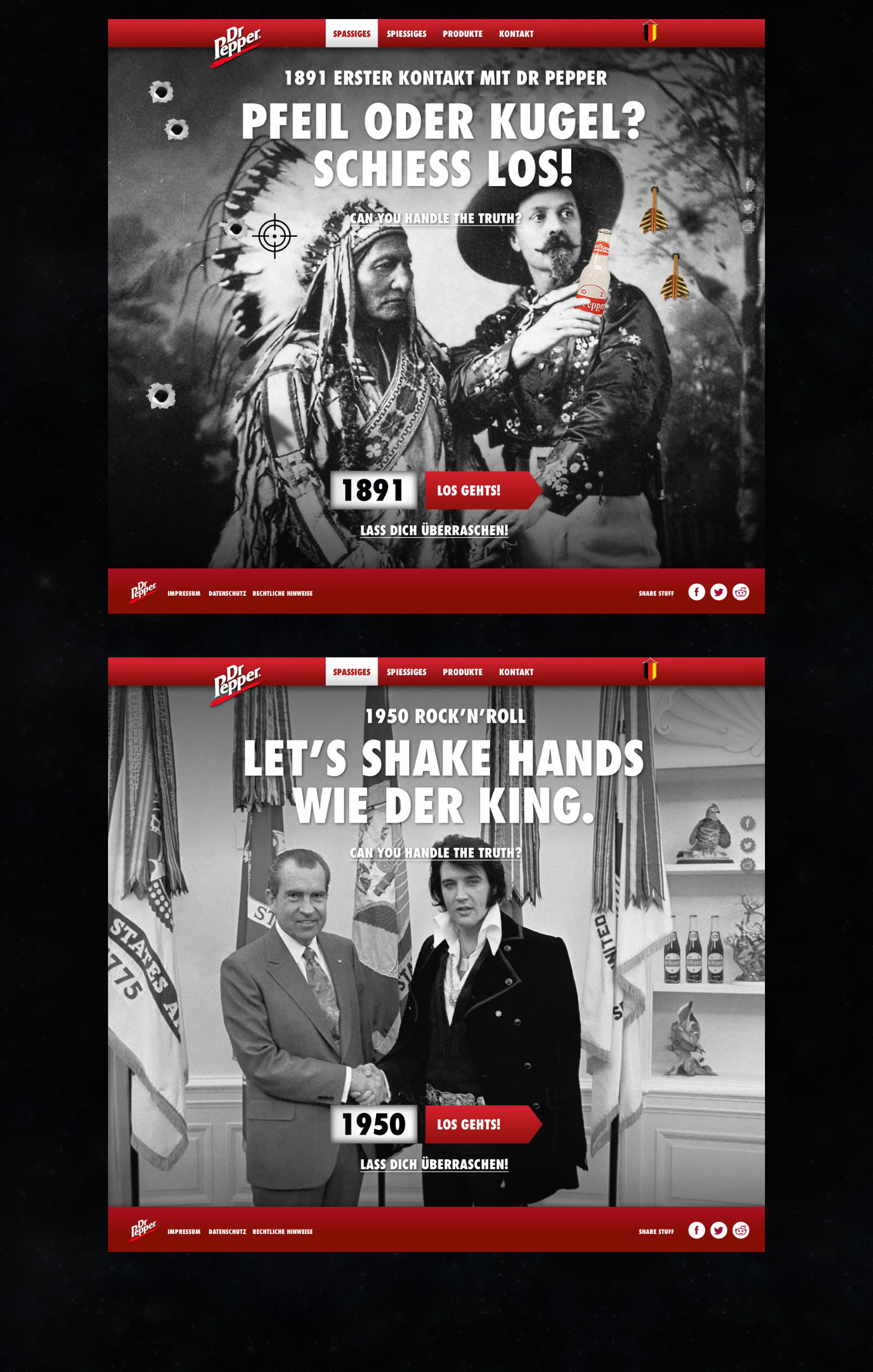 Dr Pepper Germany Website Worksample